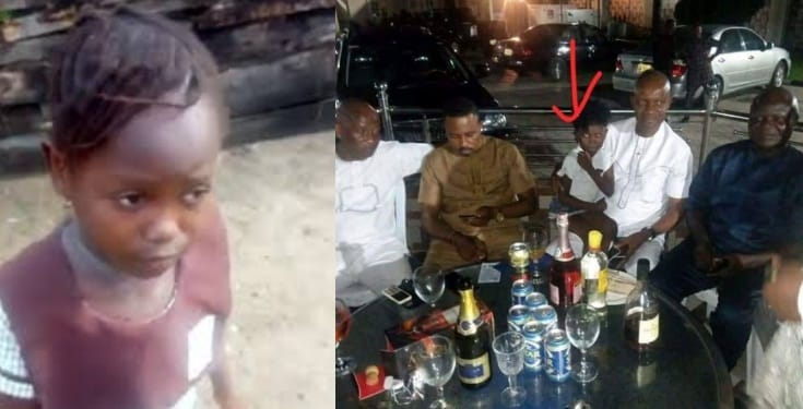 Viral school girl, Success spotted in a beer parlour with Sapele local government chairman