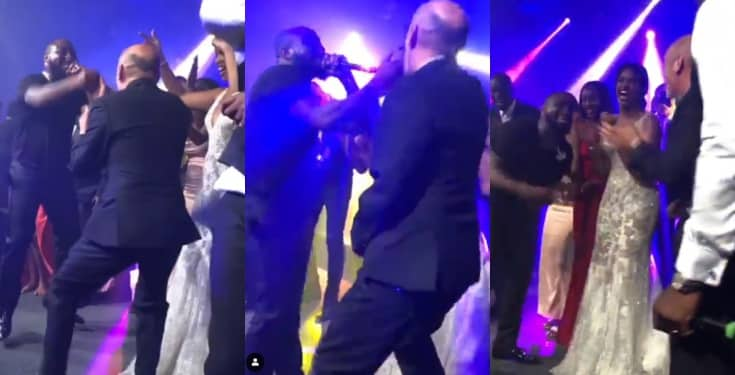 Watch Davido's surprise performance at Idris Elba's Wedding (Video)
