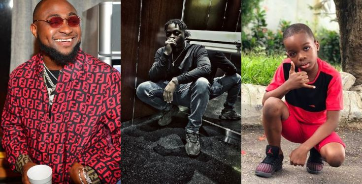 Wizkid's son starts a clothing line, says he wants to style Davido
