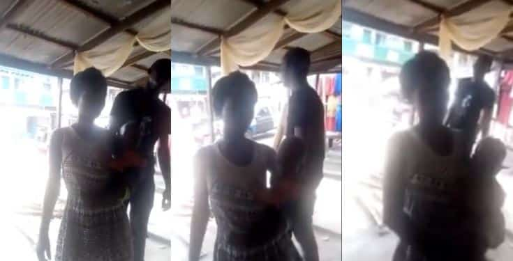 Woman caught while trying to give away her daughter as collateral for a loan (Video)