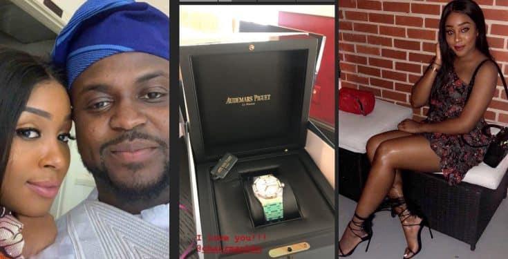 Adewale Adeleke gifts girlfriend a N9million watch for her birthday