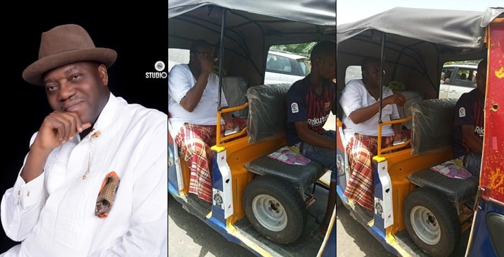Nigerian Diplomat jumps out of convoy, boards Keke to escape 2-hour traffic jam