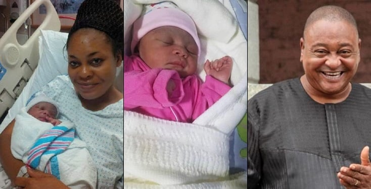 Jide Kosoko's daughter Sola welcomes baby girl