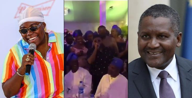 Teni Changes Name To 'Teni Dangote' At A function, Dangote reacts