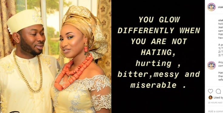 You glow differently when you're not hating – Churchill shades Tonto Dikeh?