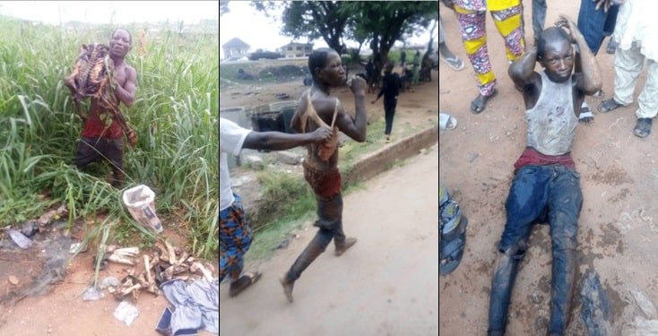 Chaos as car wash attendant is nabbed with human skeleton in Ibadan