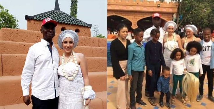 Meet Regina Daniel's Husband, Ned Nwoko's Morrocan Wife & Children