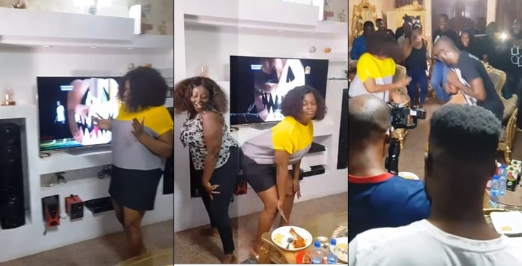 Funke Akindele throws huge birthday party for her hubby in multi-million naira mansion