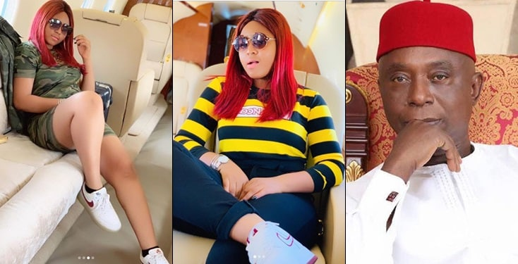 New media reports claim Regina Daniels has been flying in Ned Nwoko's 'private jet' before marriage