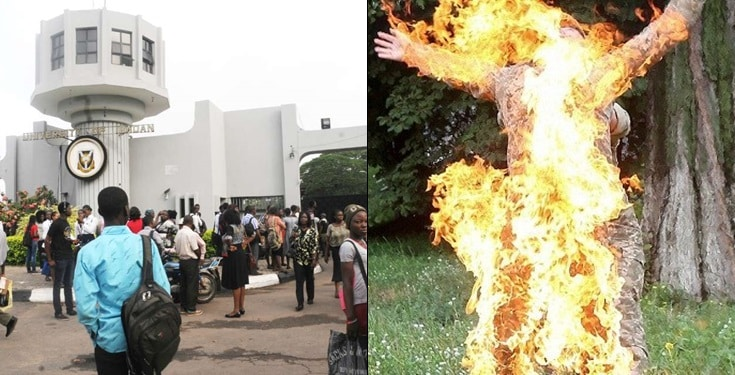 University of Ibadan lecturer sets himself on fire