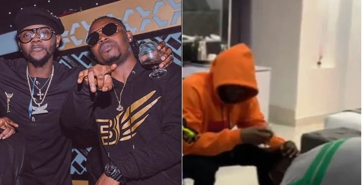 Demmie Vee prostrates to apologize to Kizz Daniel for calling him a 'traitor'