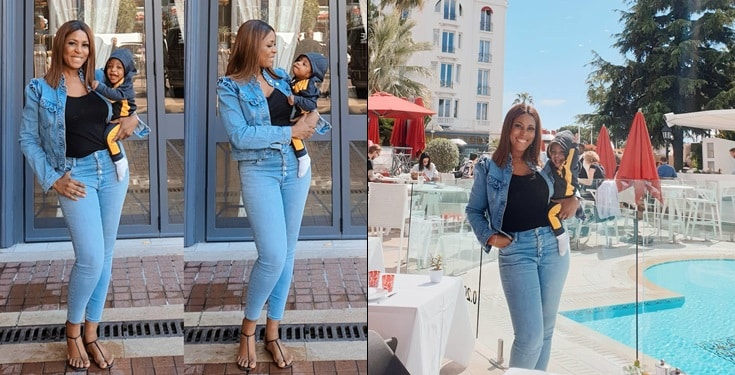 Linda Ikeji Pictured With Jayce In France