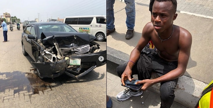 Instagram comedian Funny Toheeb laments after surviving fatal accident