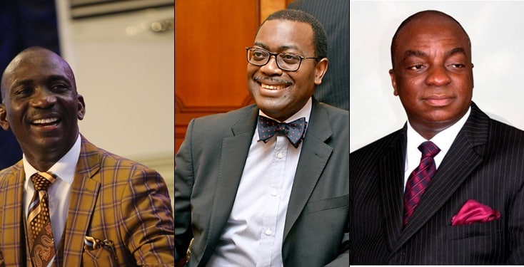 Nigerians listed among 100 most reputable people on earth for 2019
