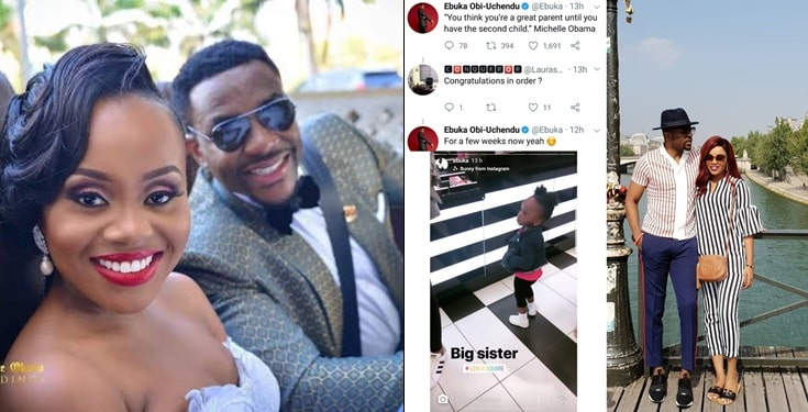 Ebuka Obi-Uchendu and wife Cynthia welcome second child