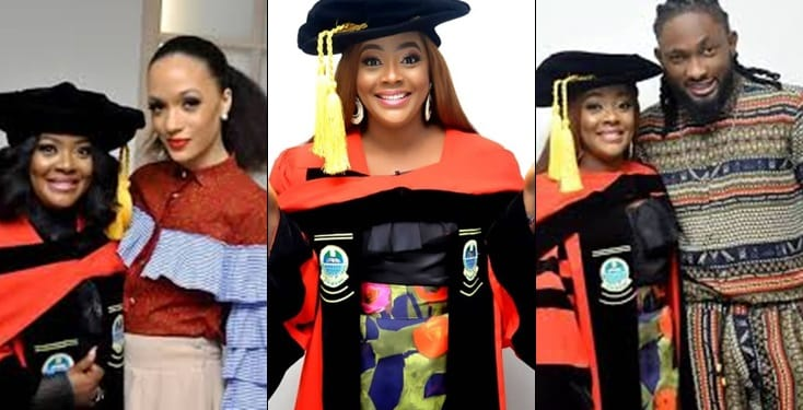 Celebrities turn up to celebrate Helen Paul's convocation