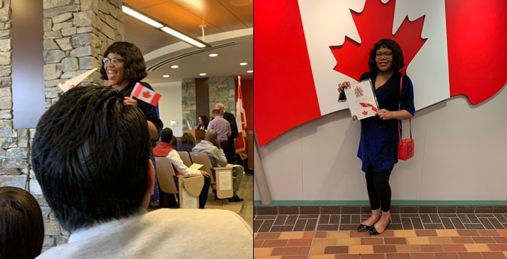 Nigerian lady who just received her Canadian citizenship, to burn her Nigerian passport