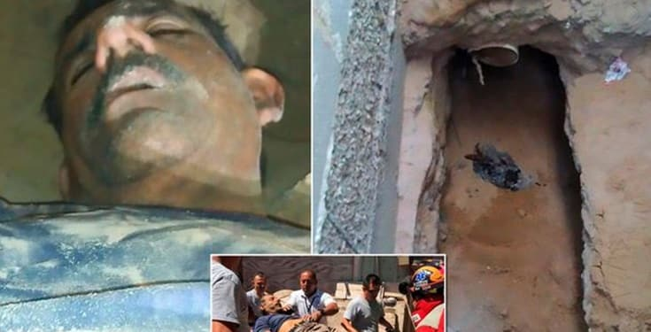 Man gets trapped in a tunnel he dug to spy on his girlfriend