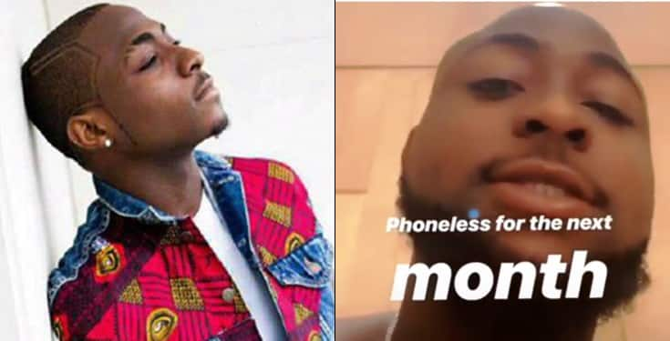 Davido vows to go one month without a phone, gives his reasons