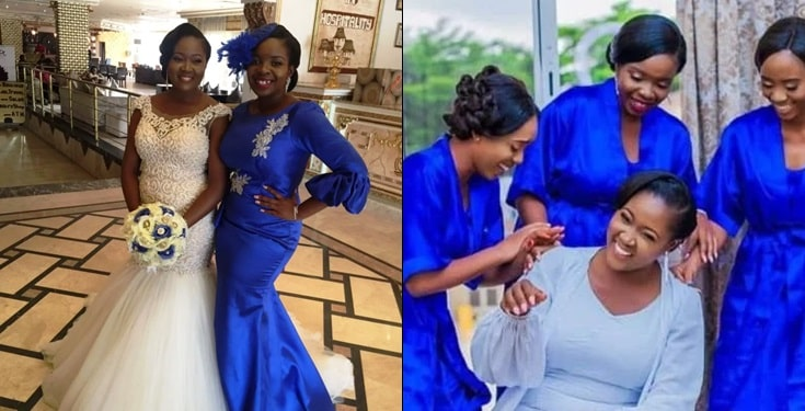 Nigerian lady who has been bridesmaid for 40 friends, finally finds love