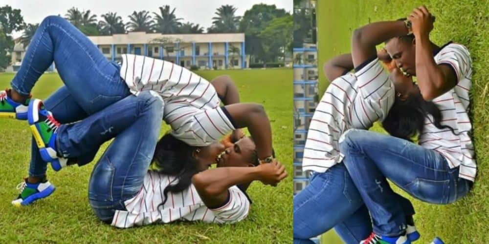 Couple crack up social media users following the release of their awkward pre-wedding photo