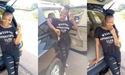 19-year-old Nigerian lady gifts herself a new Toyota SUV (Photos)