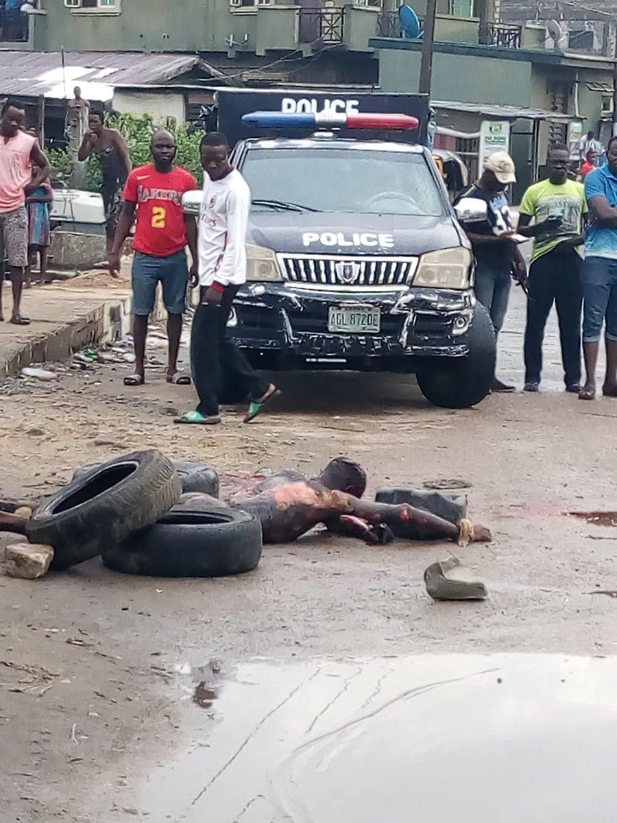 Suspected thief burnt to death in Lagos after his charm failed