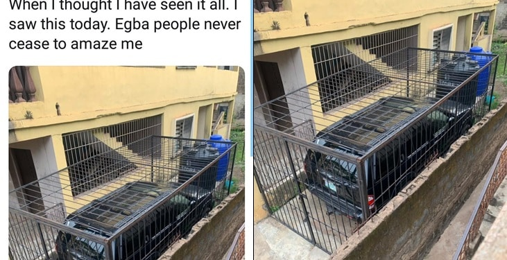Man goes to the extreme to secure his newly acquired car
