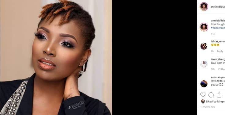 Annie Idibia loses her father to Cancer