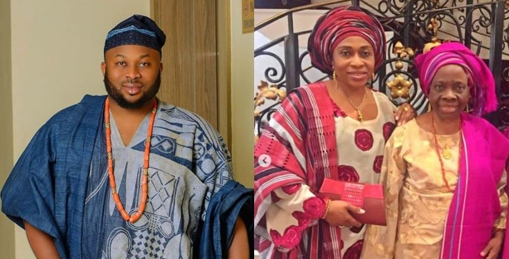 Churchill shades Tonto Dikeh as he celebrates mum on Mother's Day
