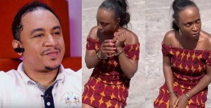 Daddy Freeze reacts to Okoro Blessing's arrest over false property claim