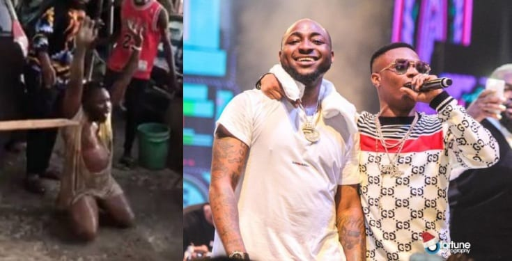 Davido offers N1 million to man who was beaten for disrespecting Wizkid