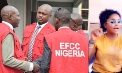 EFCC reacts as lady fights against her Yahoo boy neighbours (Video)