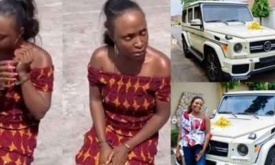 'G-wagon Okoro Blessing flaunted months ago is not hers' - IG user claims