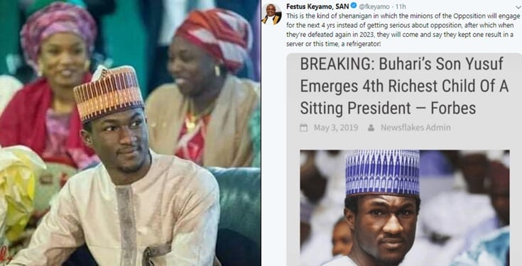 "Nigerians react as ""Forbes names Yusuf Buhari as 4th richest child of a sitting president"""