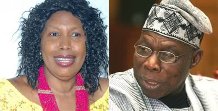 Obasanjo has hired assassins to kill me and my son- Mrs Taiwo Obasanjo alleges