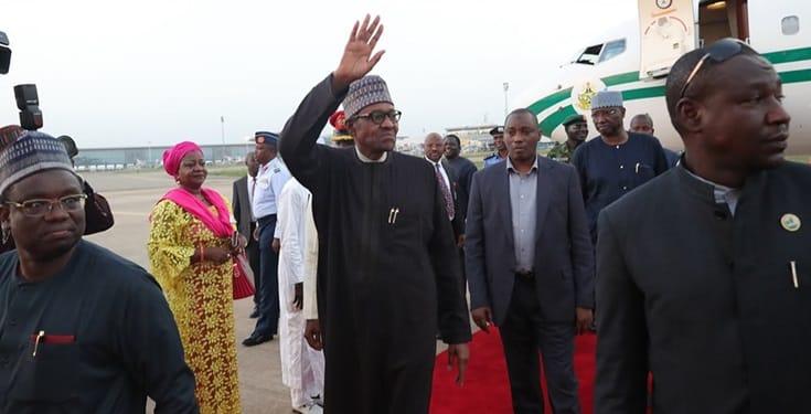 Presidency mocks opposition as Buhari returns from UK