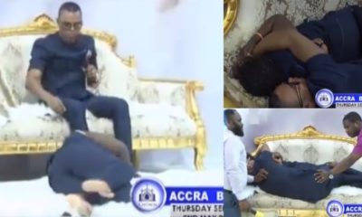 Ghanaian pastor, Obinim lays with a lady so she can get a husband (Video)