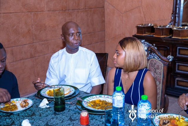 IMG 20190526 WA0074 - Photos: Regina Daniels Looks Romantically Into Husband, Ned Nwoko, Eyes As The Host People To Lunch