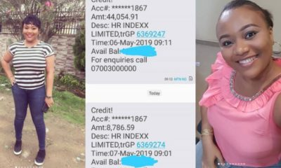 Lady returns money a company mistakenly paid into her account