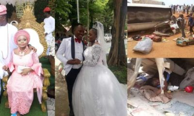Lady weds after surviving a fatal accident few days to her wedding (Photos)