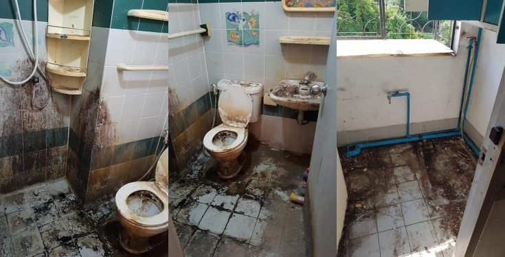 Landlady discovers dirty state of toilet after tenant moved out