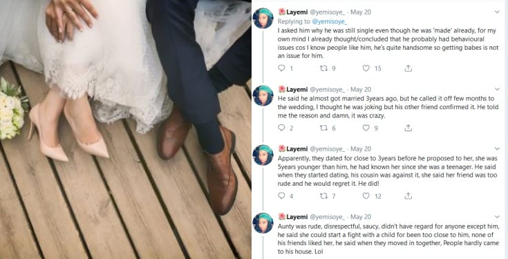 Man cancels wedding after fiancée poured hot oil on his cousin
