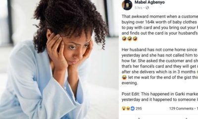 'My pregnant customer paid with my husband's card' – Nigerian Lady cries out