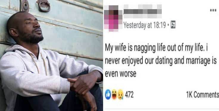 """""""My wife is nagging life out of my life."""" - Nigerian man laments"""