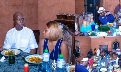 Ned Nwoko and his wife Regina Daniels host private dinner for team