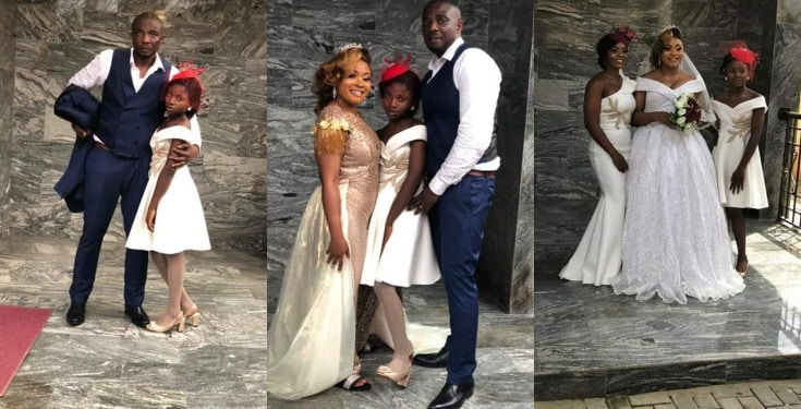 Nigerian Lady encourages single mums, as she ties the knot