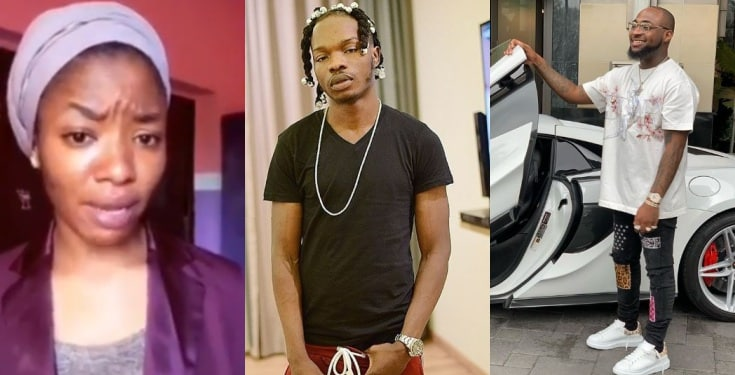 Nigerian lady blasts Davido for allowing EFCC detain Naira Marley