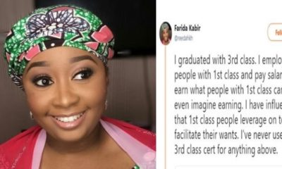 Nigerian lady who graduated with 3rd class shares her inspiring story