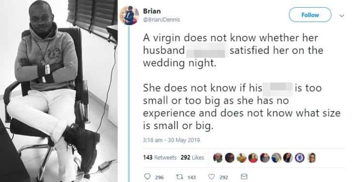 Nigerian man explains why God designed s3x for married people